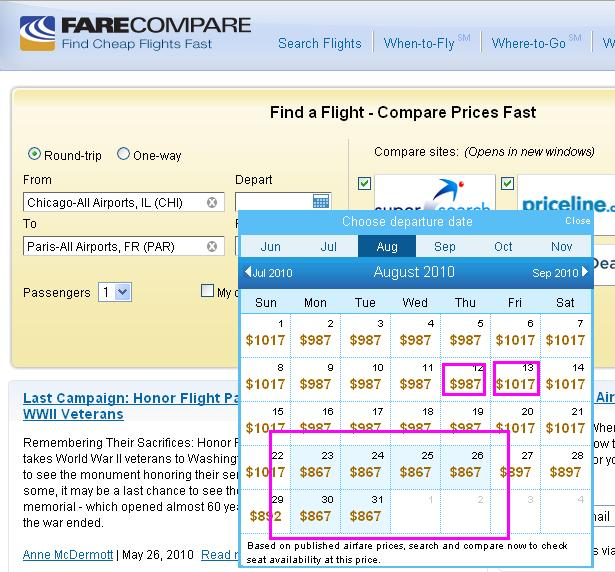 check airline flights prices