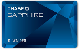 Chase Sapphire earns best rewards on travel
