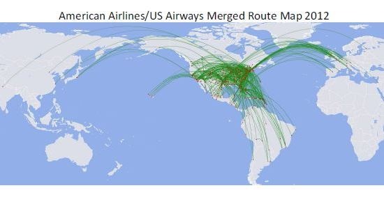 american airlines route map pdf